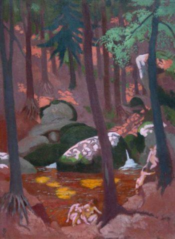 Rochers et mare au Huelgoat | Maurice Denis | oil painting