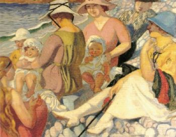 Sur la plage | Maurice Denis | oil painting