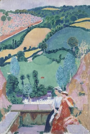 Terrace at Tonquedec | Maurice Denis | oil painting