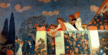 The Denis And Chausson Families On The Terrace at Fiesole | Maurice Denis | oil painting