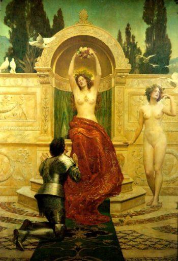 In the Venusberg Tannhauser | John Maler Collier | oil painting