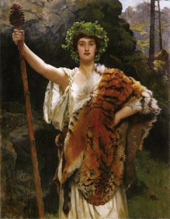The Priestess of Bacchus | John Maler Collier | oil painting