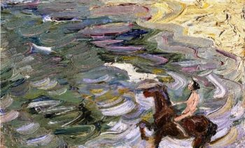 Rider by the Sea | Franz Marc | oil painting