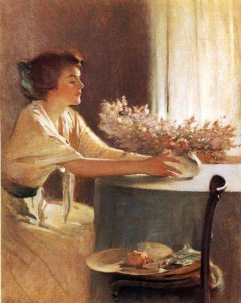 A Meadow Flower | John White Alexander | oil painting