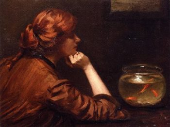 An Idle Moment | John White Alexander | oil painting