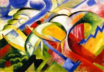 Sheep | Franz Marc | oil painting