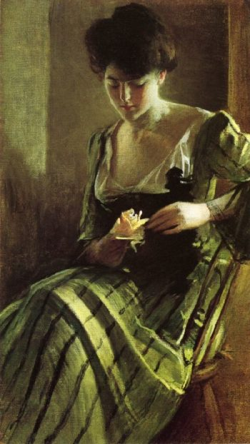 A Rose | John White Alexander | oil painting