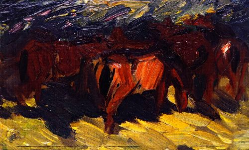 Sketch of Horses III | Franz Marc | oil painting