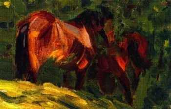 Sketch of Horses II | Franz Marc | oil painting