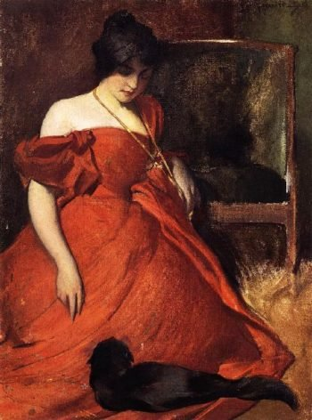 Black and Red | John White Alexander | oil painting