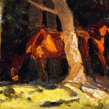 Sketch of Horses I | Franz Marc | oil painting