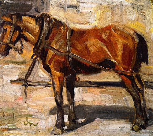 Small Study of a Horse | Franz Marc | oil painting