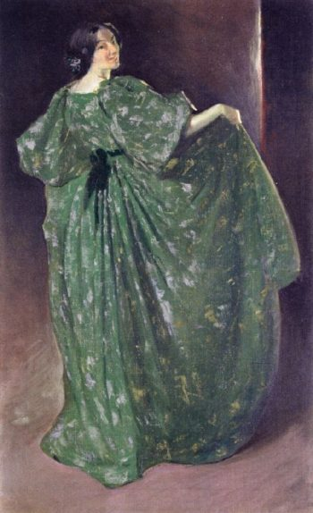 Green Girl | John White Alexander | oil painting