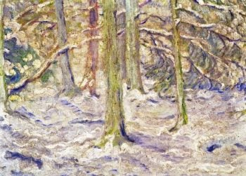 Snow Covered Wood | Franz Marc | oil painting