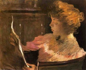 Jesse Steele Reading | John White Alexander | oil painting