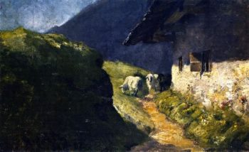 Steffelalm II with Sheep | Franz Marc | oil painting