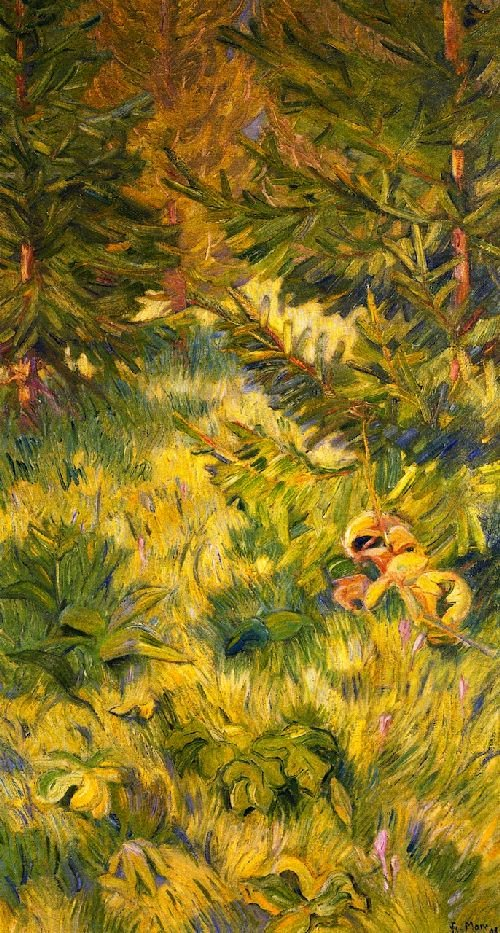 Study in Green | Franz Marc | oil painting