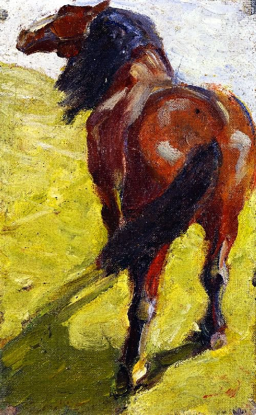 Study of a Horse | Franz Marc | oil painting