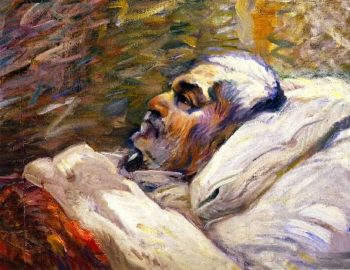 The Artists Father on His Sick Bed I | Franz Marc | oil painting