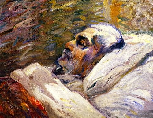 The Artists Father on His Sick Bed I   Franz Marc   oil painting