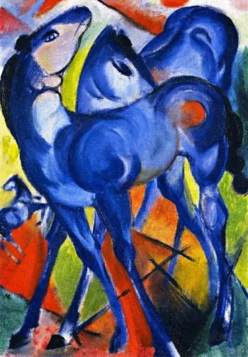 The Blue Foals | Franz Marc | oil painting