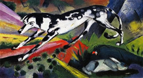 The Fear of the Hare | Franz Marc | oil painting