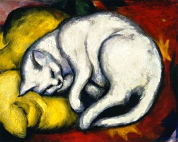 The White Cat | Franz Marc | oil painting