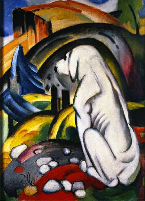 The White Dog | Franz Marc | oil painting