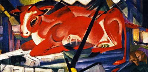 The World Cow   Franz Marc   oil painting