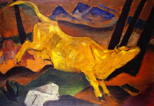 The Yellow Cow sketch | Franz Marc | oil painting