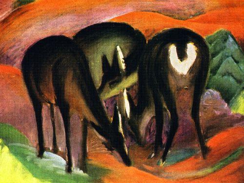Three Deer   Franz Marc   oil painting