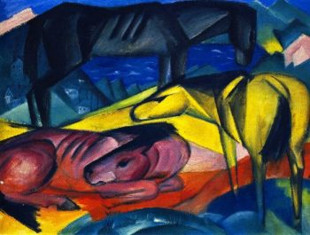 Three Horses II | Franz Marc | oil painting