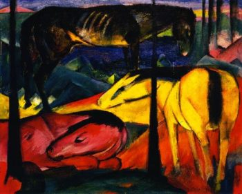Three Horses I | Franz Marc | oil painting