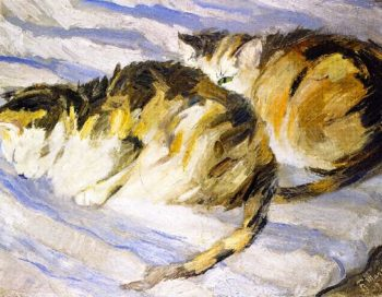 Two Grey Cats | Franz Marc | oil painting