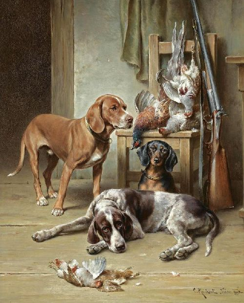 After The Hunt 1   Carl Reichert   oil painting