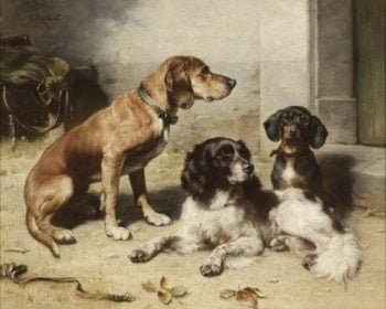 After the Hunt | Carl Reichert | oil painting