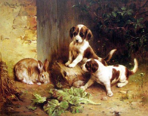 Best of Friends   Carl Reichert   oil painting