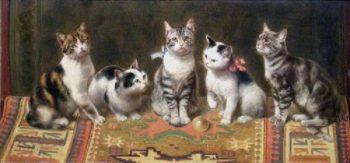 Cat Family | Carl Reichert | oil painting