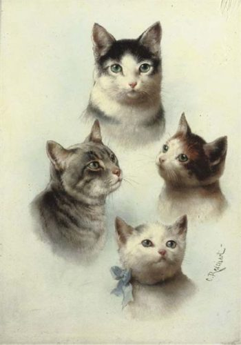 Cute Cats | Carl Reichert | oil painting