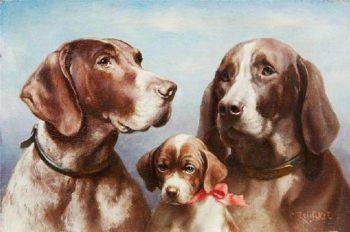 Dog Family | Carl Reichert | oil painting