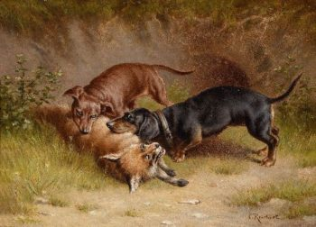 Hunting | Carl Reichert | oil painting