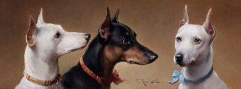 Lovely dogs   Carl Reichert   oil painting