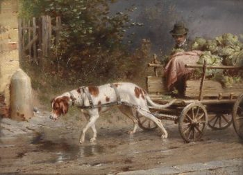 On the way to market   Carl Reichert   oil painting