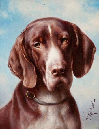 Portrait of a Dog 1   Carl Reichert   oil painting