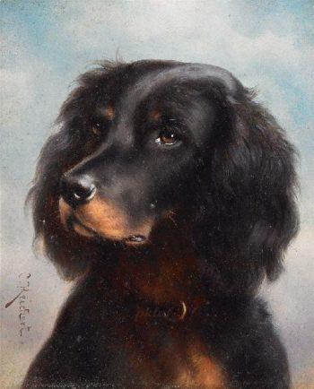 Portrait of a Dog 2   Carl Reichert   oil painting