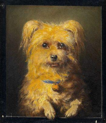 Portrait of a Dog   Carl Reichert   oil painting