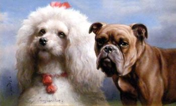 Sanguine and Choleric   Carl Reichert   oil painting