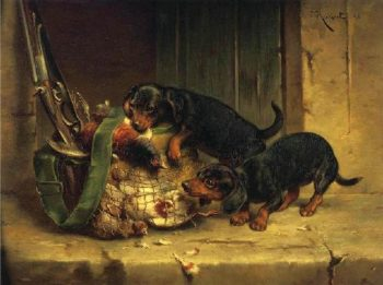 The Days Trophies   Carl Reichert   oil painting