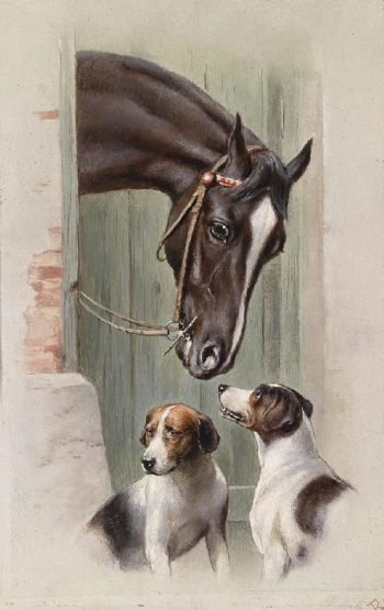 Visit to the stables | Carl Reichert | oil painting