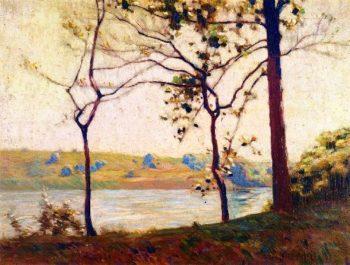 Across the River | Charles Rosen | oil painting